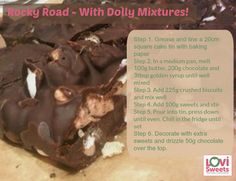 Rocky Road - With Dolly Mixtures! Click to get more 'dolly mixture' recipes!