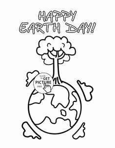 Day Of The Earth Coloring Page For Kids Pages Printables Free