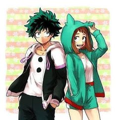 Hk on my hero academia izuku midoriya, casal anime, uraraka Boku No Hero Academia, My Hero Academia Memes, Hero Academia Characters, My Hero Academia Manga, Anime Characters, Manga Anime, Fanart Manga, Art Anime, Boku No Hero Uraraka