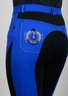[I HAVE DECIDED THAT I DO IN FACT NEED THESE VERY MUCH] Euro-star Laureta breeches in Dazzling Blue/Navy from SE Sport Horse