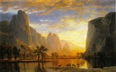 Valley of the Yosemite, 1864  Albert Bierstadt (wiki paintings)