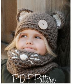 Crochet PATTERNThe Camille Cat Set Toddler Child by Thevelvetacorn, $10.00