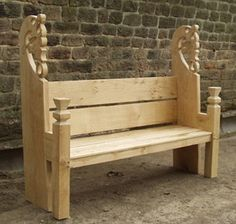 carved viking bench - Google Search