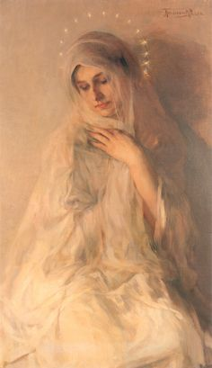 Herman Richir (1866-1942) La Madone ♥ May Devotion to Mary ~ May 12 ~ A visit to a lonely person to share the joy of trusting in God alone. ♥