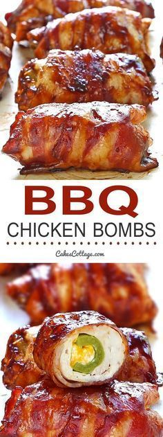 Get your tastebuds ready for a Bacon BBQ Chicken Bombs, it has chicken, cheese, bbq sauce, bacon and jalapeno. And yes, it's as good as you are dreaming it.
