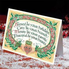 Celtic Claddagh Christmas Card Box of 25 - House of Claddagh Irish Collections Irish Christmas, Christmas Music, Little Christmas, Christmas Holidays, Christmas Cards, Merry Christmas, Christmas Deco, Claddagh, St Patricks Day