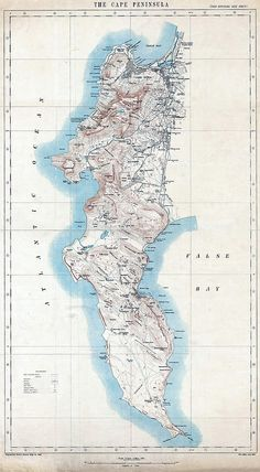 Cape Peninsula Map 1909 | Flickr - Photo Sharing! African Map, African History, Map Artwork, City Maps, Antique Maps, Vintage Photographs, Oh The Places You'll Go, Old Pictures, Cape Town