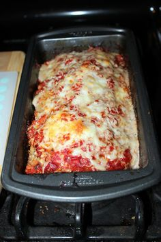 Parmesan Meatloaf... This was good but not as good as my regular meatloaf.