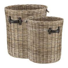 ROUND STORAGE Basket w handles