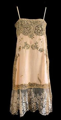 French Lace Silk slip, 1920s, from the Vintage Textile archives.New York Vintage Linens