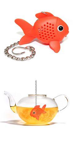 infuseur à thé en forme de poisson rouge // Gold Fish Tea Infuser