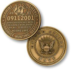 U s Navy Seal Varmint License 09112001 Bronze Challenge Coin | eBay
