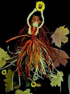 Pagan Mabon Goddess Doll . Handmade Corn Dolly Altar figure