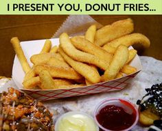 Funny Pictures Of The Day – 89 Pics foods, french fri, doughnuts, funny pictures, dipping sauces, yummi, recip, donut fri, kid