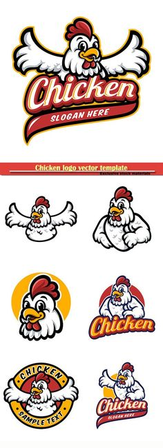 logo vector template logo vector template Set Chicken Logo Emblem Graphic-pizza Graphics Logos 20 Food Industry Logos - Chicken Hut More Dabbing cartoon chicken. Vector clip art illustration with simple gradients. All in a single laye. Chicken Logo, Chicken Shop, Chicken Vector, Cartoon Chicken, Chicken Houses, Yellow Accent Chairs, Tile Covers, Wings Logo, Candy Apple Red
