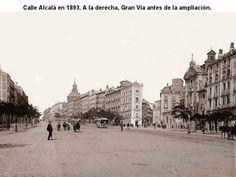 La Calle Alcalá y la Gran Vía en el Madrid de 1893. Qué rara sin el Edificio Metrópolis!