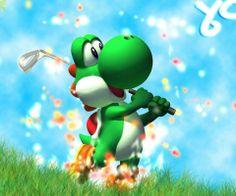 Yoshi playing golf