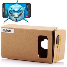 iBlue DIY Cardboard 3D VR Glasses Smart Phone 3D Private Theater with Magnetic Sensor for 3.5 - 5.5 inches Smartphone. #vr #gadgets #cool