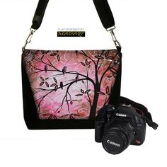 Deluxe SLR Camera Bag for Women Stylish Cute Pink Cherry Blossom MADART Collection   $94.99