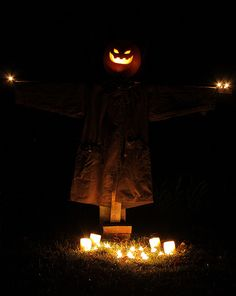 Scarecrow at night...