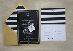 Modern Antlers Wedding Invitation Deposit