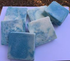 My First Cold Process Sea Salt Bars, Blue Lotus Scented