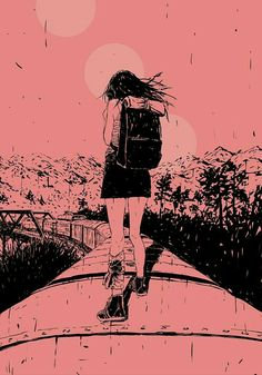 Illustration by Adams Carvalho for the short story 'Seventh' by Abigail Hodge — Popshot Issue Fifteen Illustrations, Illustration Art, Pretty Art, Art Plastique, Aesthetic Art, Bunt, Art Inspo, Art Girl, Graphic Art