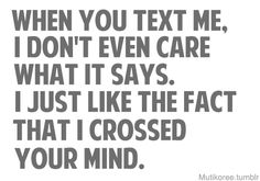 ... I crossed your mind