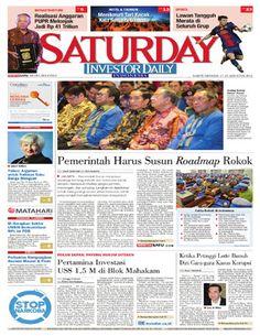 Investor Daily - 27-28 Agustus 2016 | Pemerintah Harus Susun Roadmap Rokok…