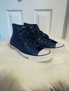 4b2d1fdd53a2 CONVERSE Chuck Taylor All Star High Top Leather Shoes Mens 7.5 Women s 9.5   fashion  clothing  shoes  accessories  unisexclothingshoesaccs   unisexadultshoes ...