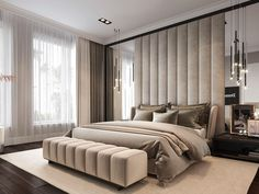 Awesome Luxury Modern Master Bedroom Design will Inspire You - home decor update Modern Luxury Bedroom, Luxury Bedroom Design, Master Bedroom Interior, Modern Master Bedroom, Bedroom Furniture Design, Home Room Design, Master Bedroom Design, Contemporary Bedroom, Luxurious Bedrooms