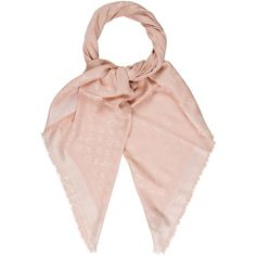Pre-owned Louis Vuitton Monogram Denim Shawl ($525) ❤ liked on Polyvore featuring accessories, scarves, pink, pink shawl, pink scarves, monogrammed scarves, monogram shawl and louis vuitton shawl