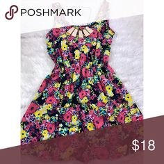 Floral Dress Size small. 100% Polyester. Great condition; only worn once! {Necklace sold separately in my closet--bundle opportunity!} Open to reasonable offers. ☺️ No trades please. 💞 **Remember, 15% off bundles of 2 or more!** Ambiance Apparel Dresses Mini