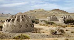 'Weaving a Home' are ultra-light, self-sufficient, temporary yurts designed to help those forced from their homes by climate change.