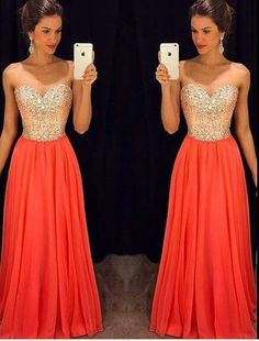 sparkly orange and gold holter dress