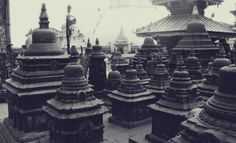 Swayambhunath (स्वयम्भूनाथ स्तुप) or Monkey Temple.  http://en.wikipedia.org/ wiki/Swayambhunath