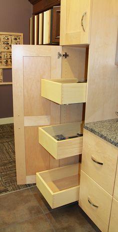 Zeeland Lumber & Supply Showroom: Woodharbor Pantry Roll-Out Shelves