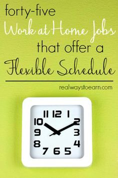 Do you need a work at home job that lets you work whenever you want? Here's a list of 45 companies that regularly offer work from home jobs with no set schedule. via @RealWaystoEarn