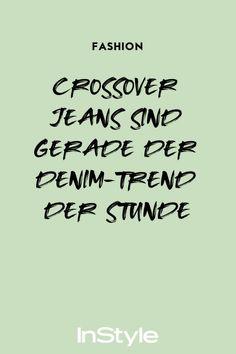 Jeans erleben wieder einen Hype. Besonders das Crossover-Modell ist angesagt. Wie der Trend aussieht und wo du ihn shoppen kannst - hier. #instyle #instylegermany #crossoverjeans #denimtrend #denim #jeans