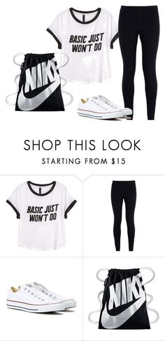 """Untitled #19"" by macierenae2003 ❤ liked on Polyvore featuring H&M, NIKE and Converse"