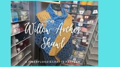 Willow Arches Crochet Shawl! Left And Right Handed, V Stitch, Crochet Shawl, Crochet Patterns, Arches, Fiber, Crafts, Manualidades, Crochet Pattern