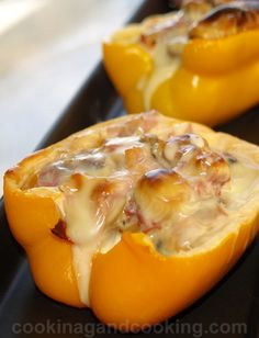 #HealthyRecipes - Philly Cheese Steak stuffed vegetables...let's try stuffed Zucchini, Stuffed Portabella, Stuffed Pepper, and Stuffed Squash.
