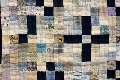 """Another Jaime Rovenstine find.  I can't get enough of these simple 5"""" square quilts."""