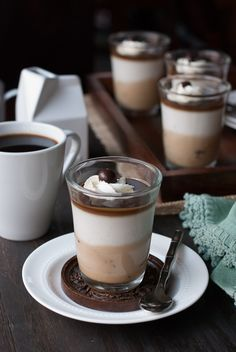 chocolate coffee panna cotta
