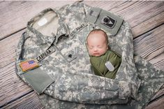 Military infant photo Boy or girl