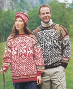 Dale Garn (formerly Dale of Norway) - 14706 - Lillehammer 1994 Adult & Child Pullovers & Accessories Fair Isle Knitting Patterns, Knitting Stitches, Norwegian Knitting, Lillehammer, Nordic Sweater, Fair Isles, Cool Sweaters, Autumn Winter Fashion, Knitwear