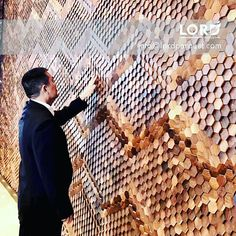 Black Walnut Hexagon Fish Scale Wall Panel #panel #wall #wallpanel #wallpanels #newproducts #blackwalnut #woodpaneling #woodpanels #new #newdesign #decoration #housedecor #hoteldecor #interiors #interiordesignブラックウォールナットで作ったウォールパネル #自然素材 #インテリア #デザイン #パネル #ウォール #新製品 #ブラックウォールナット