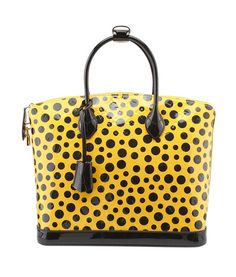 Louis Vuitton Yayoi Kusama Lockit MM Polka Dot Patent Leather Satchel