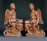 Lot No. 709 Masterly pair of angels, Italy century, terracotta Renaissance, Gothic, Art Furniture, 16th Century, Terracotta, Sculptures, Angels, Porcelain, Italy