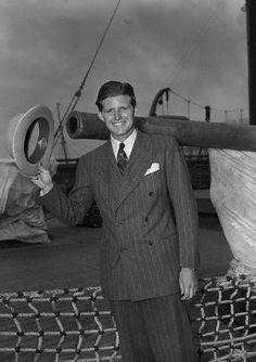 Joe Jr photo taken September 20 1939 Aboard the Maurentania.